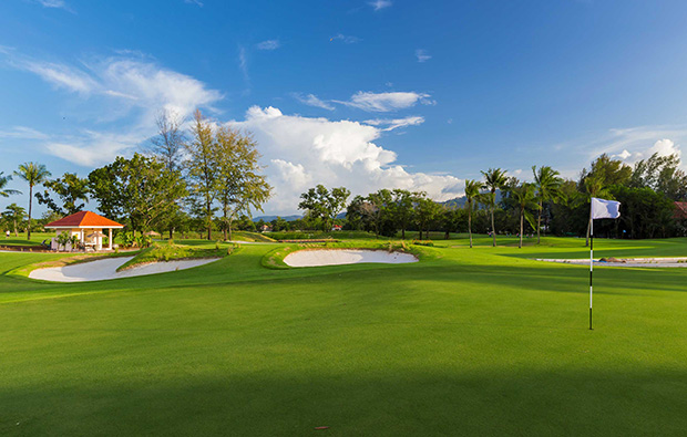 18th green laguna phuket golf club, phuket