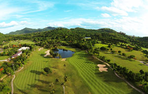 aerial view, laem chabang international country club, pattaya, thailand