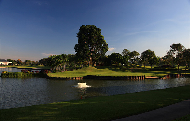 Island green Laguna National Masters Course, Singapore