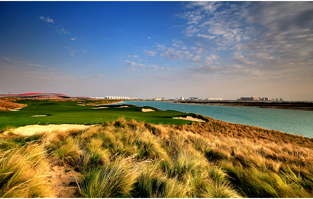 the long grass at  yas island links, abu dhabi, united arab emirates