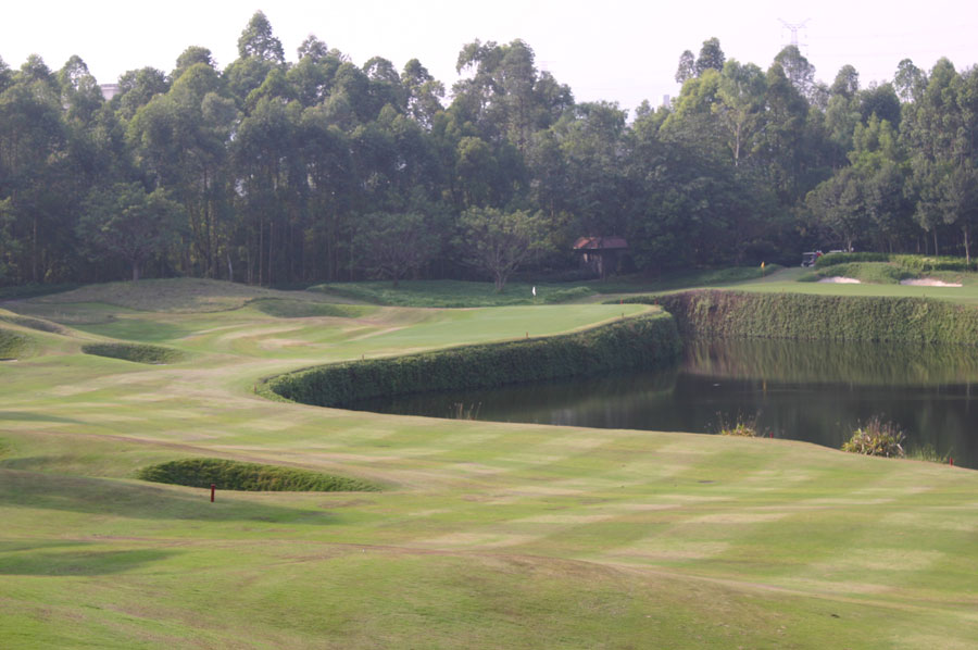 lake view at pete dye course mission hills in guang dong china
