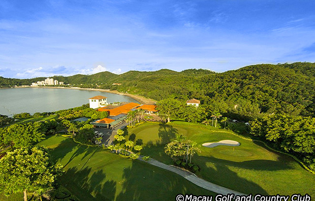 aerial view at macau golf and country club, macau china