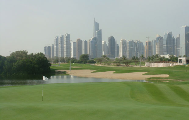 fairways and green, emirates golf club majlis course, dubai, united arab emirates