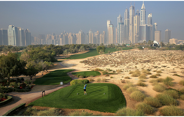 desert, emirates golf club majlis course, dubai, united arab emirates