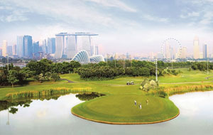 Marina Bay Golf Course View