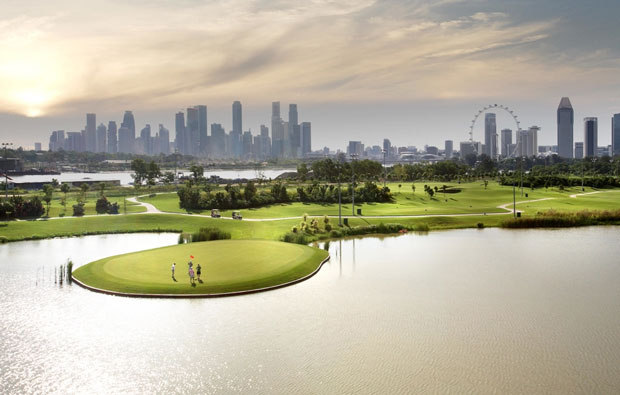 Marina Bay Golf Course general view