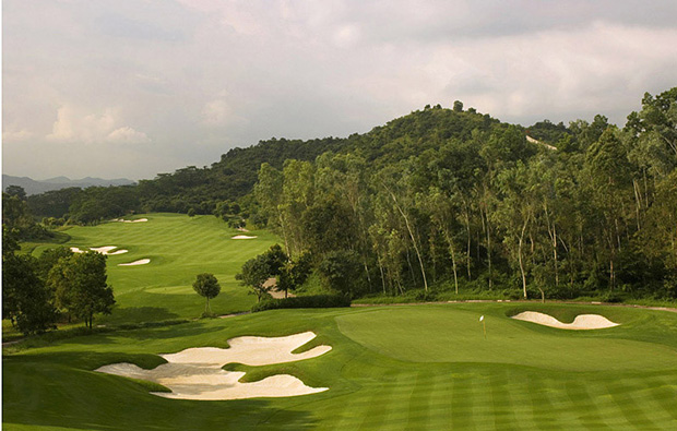 green way view at faldo course mission hills, guangdong china