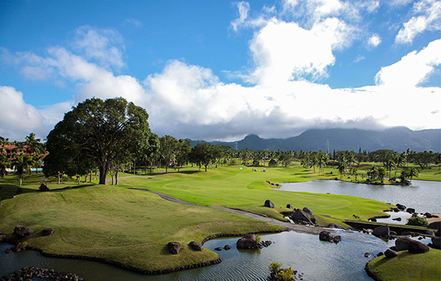 View to mountains at Mt Malarayat Golf Country Club, Manila, Philippines