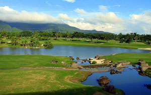 Water Hazards at Mt Malarayat Golf Country Club, Manila, Philippines