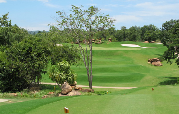 scenery at at mountain creek golf resort, khao yai thailand