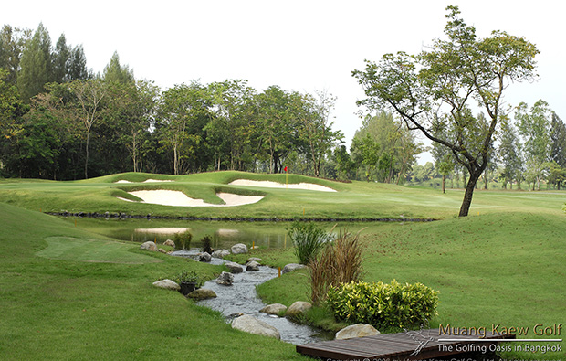bunker at muang kaew golf club, bangkok, thailand