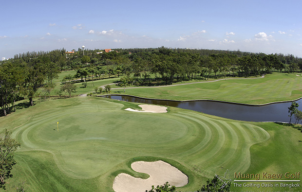 aeriel view of  muang kaew golf club, bangkok, thailand