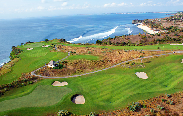 aerial view, new kuta golf club, bali, indonesia