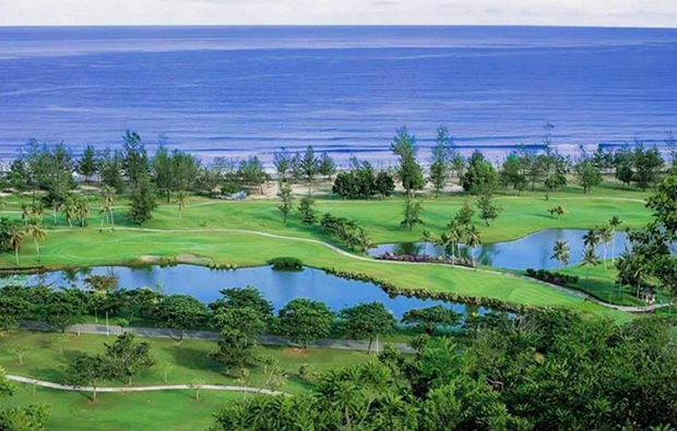 looking to sea at nexus-golf-resort-karambunai, kota kinabalu, malaysia