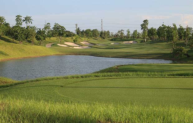 hole overview, nikanti golf club, bangkok, thailand