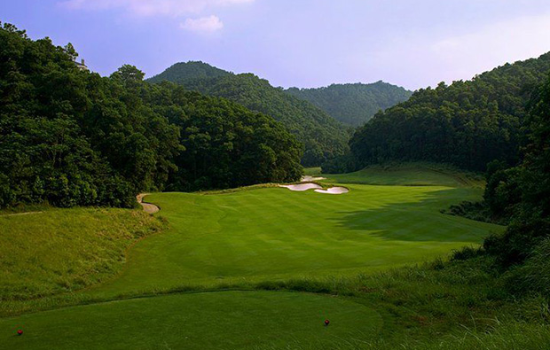 green way at norman course mission hills, guangdong china