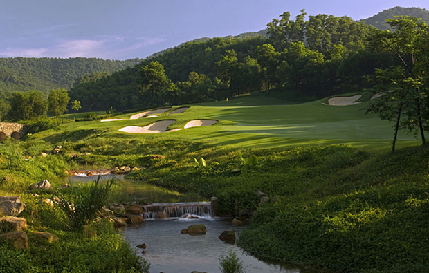 river side at olazabal course mission hills, guangdong china