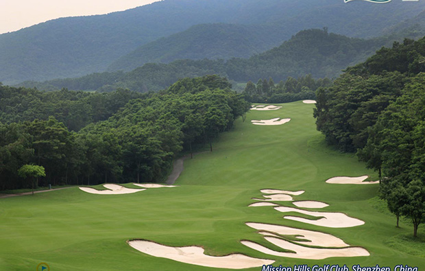 greenway slope at at olazabal course mission hills, guangdong china