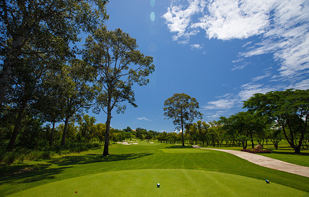 tree-lined fairways, siam country club old course, pattaya, thailand