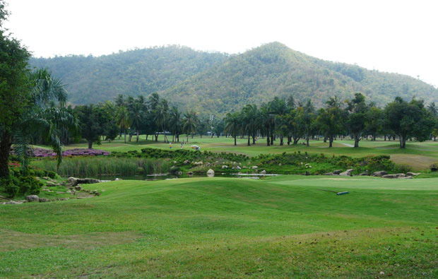 view of mountains at mountain shadow golf club, pattaya, thailand