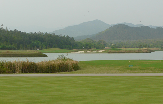 lake, dai lai star golf club, hanoi, vietnam