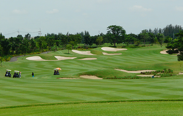 fairway, riverdale golf club, bangkok, thailand