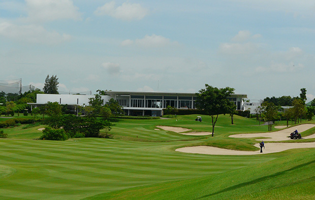 clubhouse, riverdale golf club, bangkok, thailand