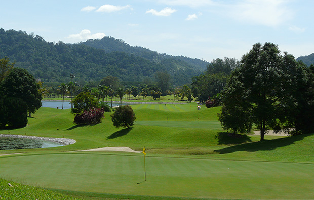 9th green templer park country club, kuala lumpur