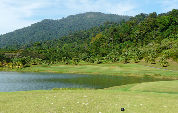 view of mountain gunung raya golf resort, langkawi