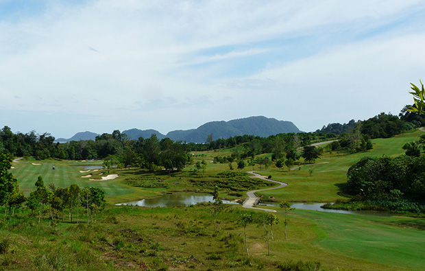 view over course 99 east golf club, langkawi