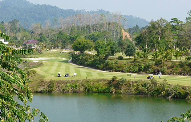 18th hole katathong golf resort, phuket