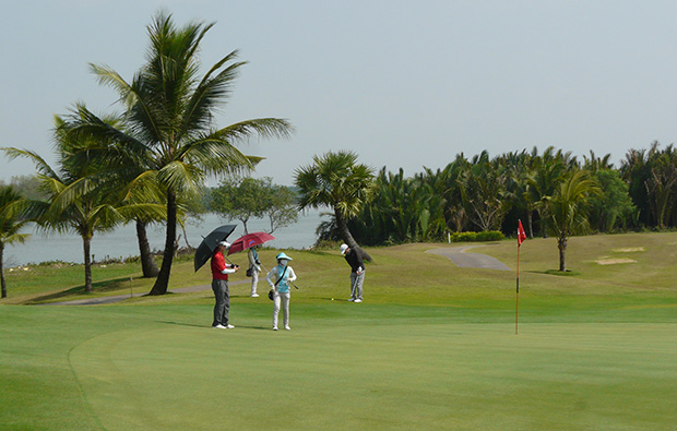 putting, jeongsan country club, ho chi minh, vietnam