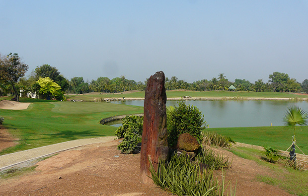 view to green, song be golf resort, ho chi minh, vietnam