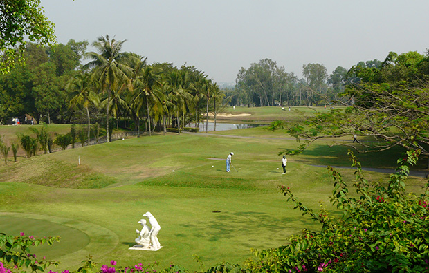 teeing off, song be golf resort, ho chi minh, vietnam