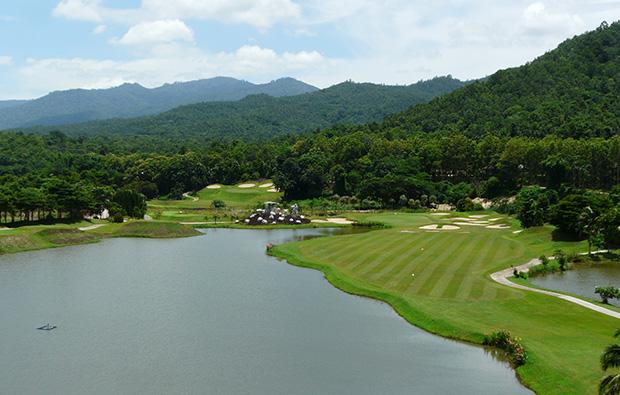 aerial view, gassan khuntan golf resort, chiang mai, thailand
