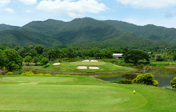 view from tee box, gassan khuntan golf resort, chiang mai, thailand