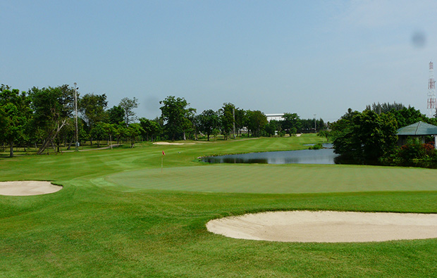 green at bangkok golf club, bangkok, thailand