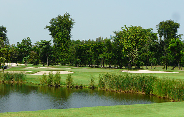 water hazard,  bangkok golf club, bangkok, thailand