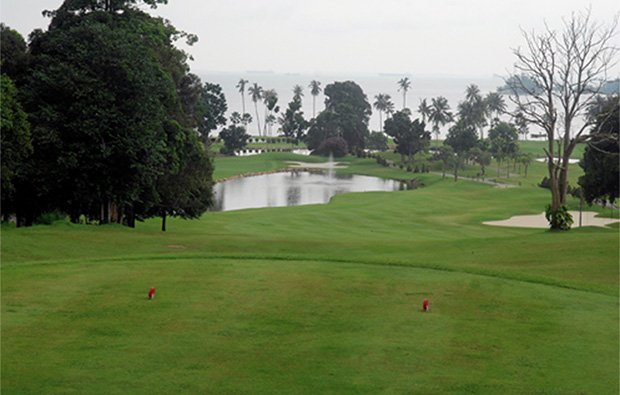 lake view at palm springs golf country club in batam island, indonesia