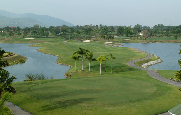 view down fairway pattana golf resort, pattaya, thailand