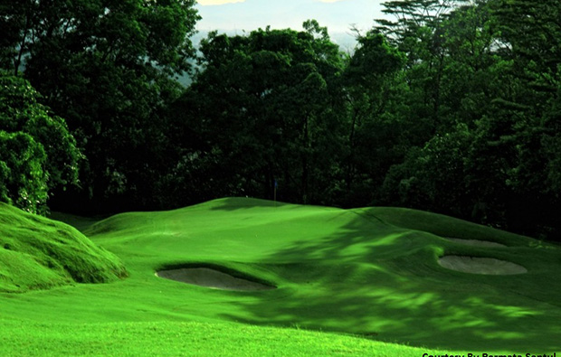 green surrounded by jungle, permata sentul golf, jakarta, indonesia