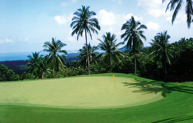 green at santiburi samui golf club, samui, thailand