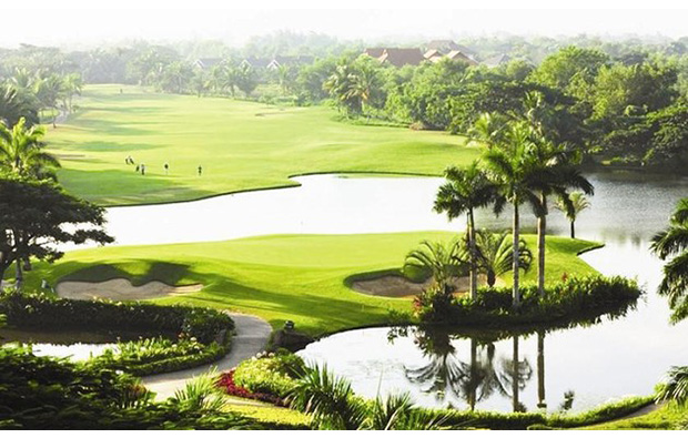 scenery of yangon golf course, pun hlaing golf course, yangon, myanmar