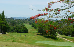 general view, rajjaprabha dam golf course, samui, thailand