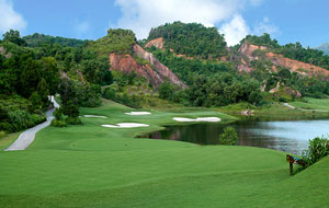 view of 14th red mountain golf club, phuket