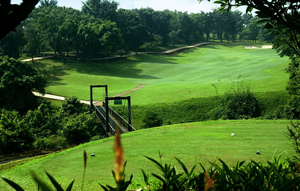 tee box to fairway, riverside golf club, jakarta, indonesia