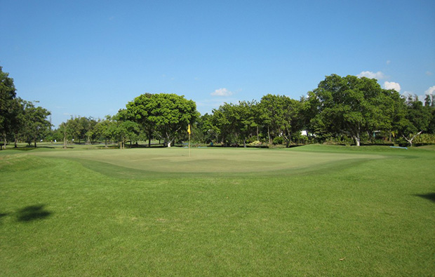 green, the royal golf country club, bangkok, thailand