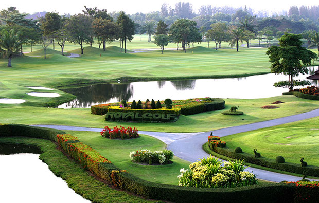 landscape, the royal golf country club, bangkok, thailand