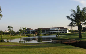 looking towards clubhouse, the royal golf country club, bangkok, thailand