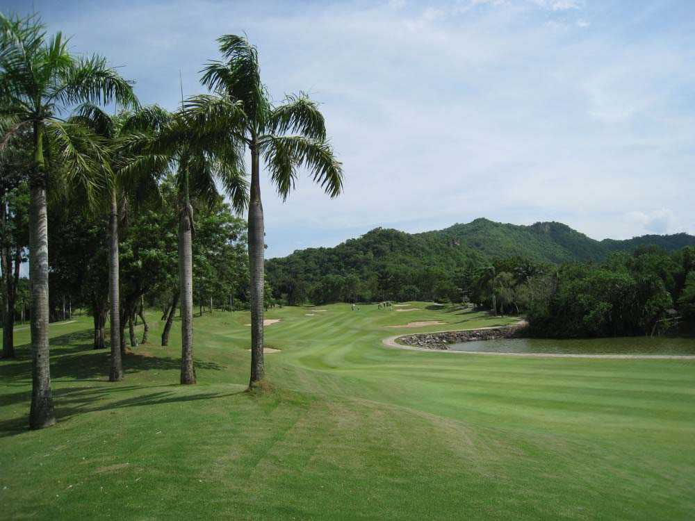 View across Royal Ratchaburi Golf Club, Kanchanaburi
